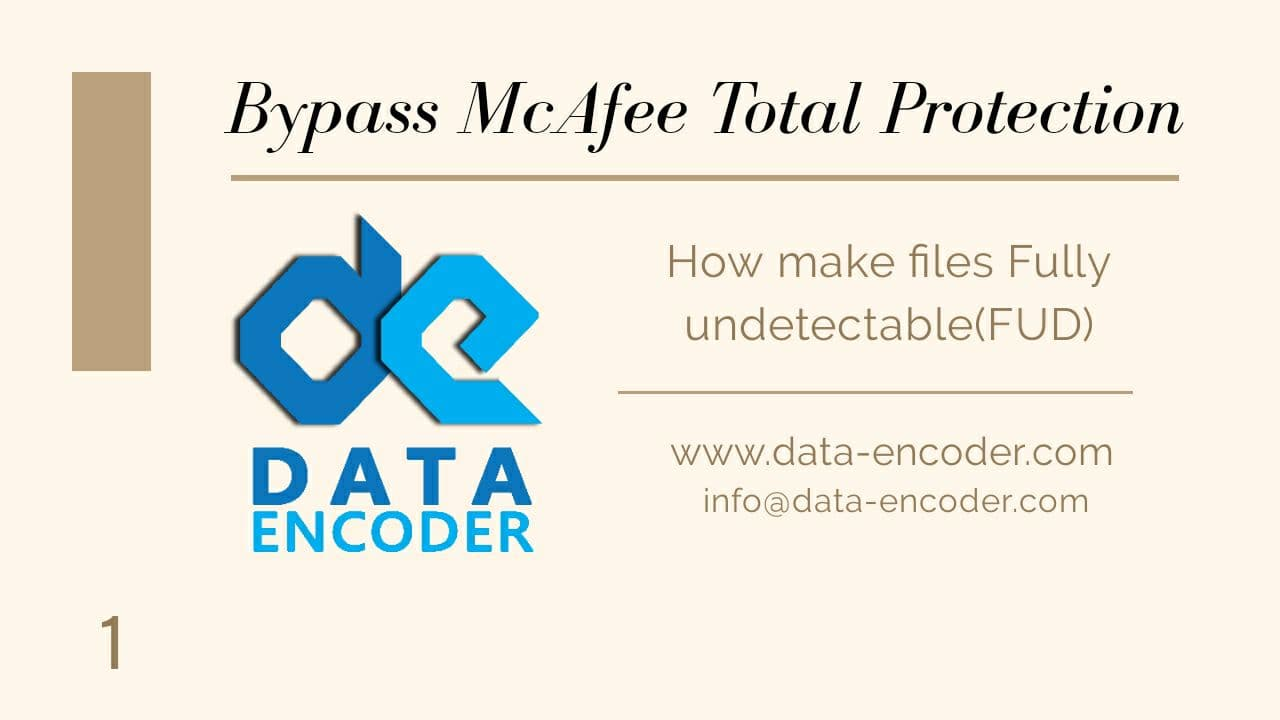 Bypass McAfee Total Protection