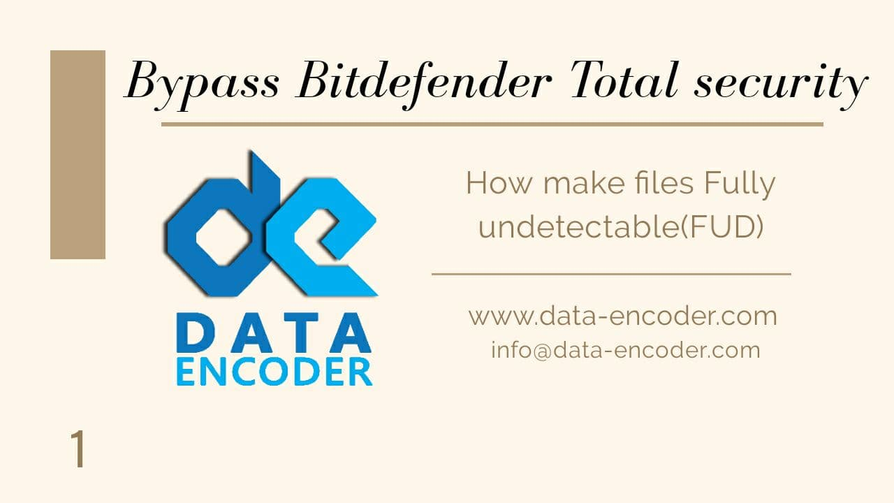 Bypass Bitdefender Total Security