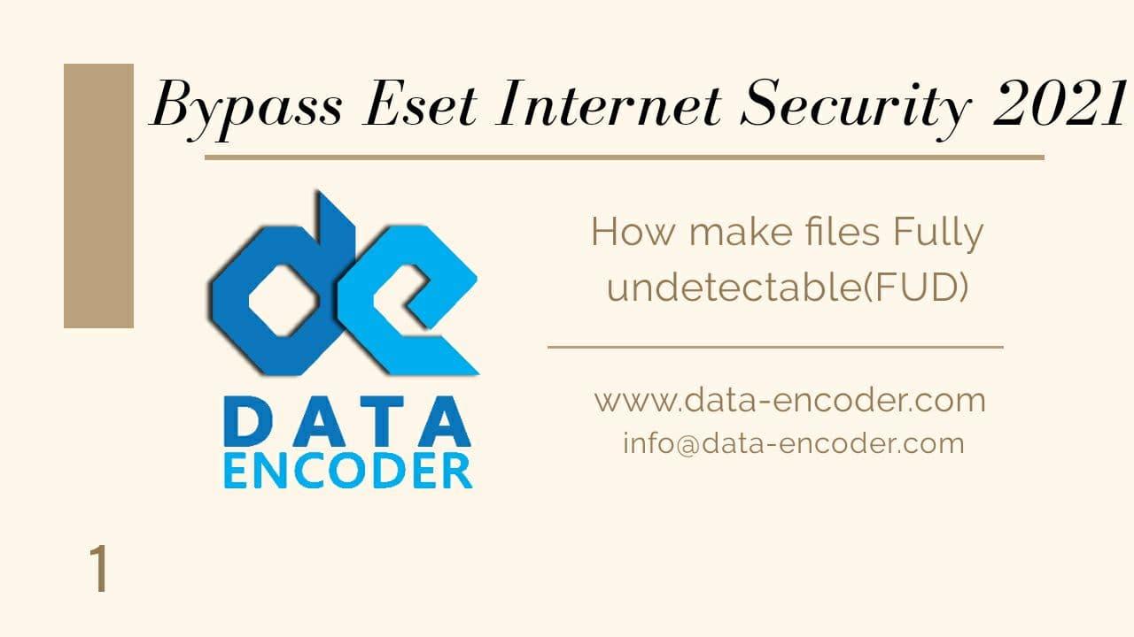 Bypass Eset Internet Security 29November2020
